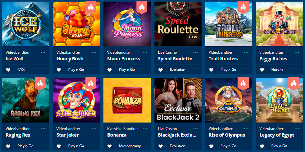 Spela på Hajper Casino