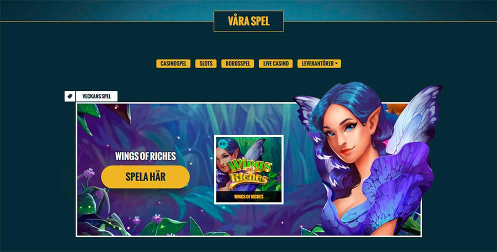 No Account Casino Spelutbud
