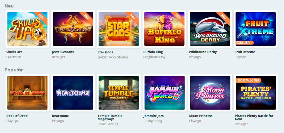 Spel hos Speedy Casino